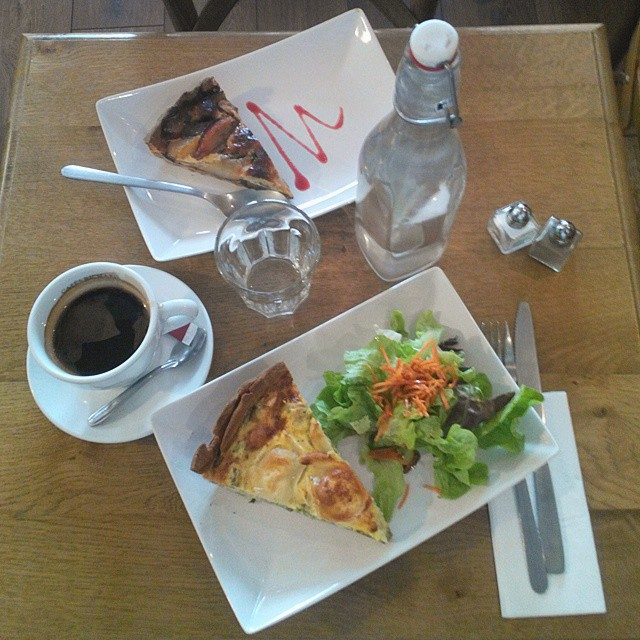 Barista and Baker: quiches, coffee, salad and water