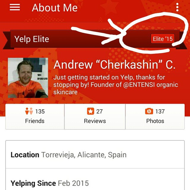 It happened, I'm now Yelp Elite! I absolutely enjoyed hanging out on this network since February when I opened the account. Give it a try if you're not on Yelp, add me as friend and if you are - andrewcherkashin.yelp.com. Elite status gives you access to exclusive Yelp events where you meet other yelpers, can't wait to take part in this :) #yelpelite #SYOY #yelp #yelpevents #eventosyelp #eventoyelp #yelpreview #yelplife #yelpspain #yelpvalencia #fuc #yelpfrance #yelpespaña #yelpevent #itsneattobeelite #seeyouonyelp #yelpreview #yelplou #eliteyelpers #restaurants #yelpcalifornia #yelpreviews #yelpoc #yelpfam #rotd #yelper #eliteyelper #eliteyelp #yelpers #reviews