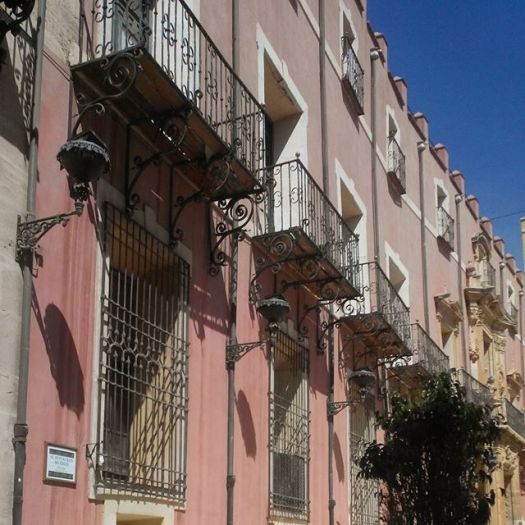 Balconies in Orihuela, Spain
