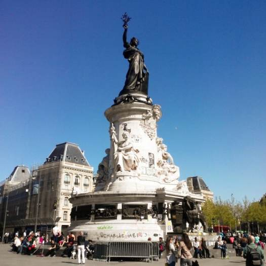 The monument at Place de la République, Paris, France