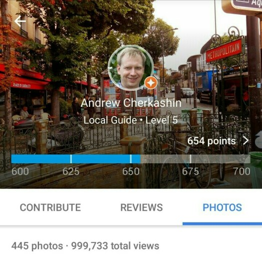 Views on Google Maps photos