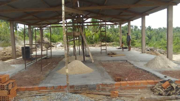 Camp Update: Cement for the Pavilion Floor