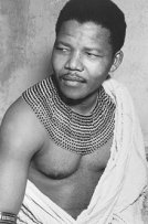Nelson Mandela in traditional dress in 1950