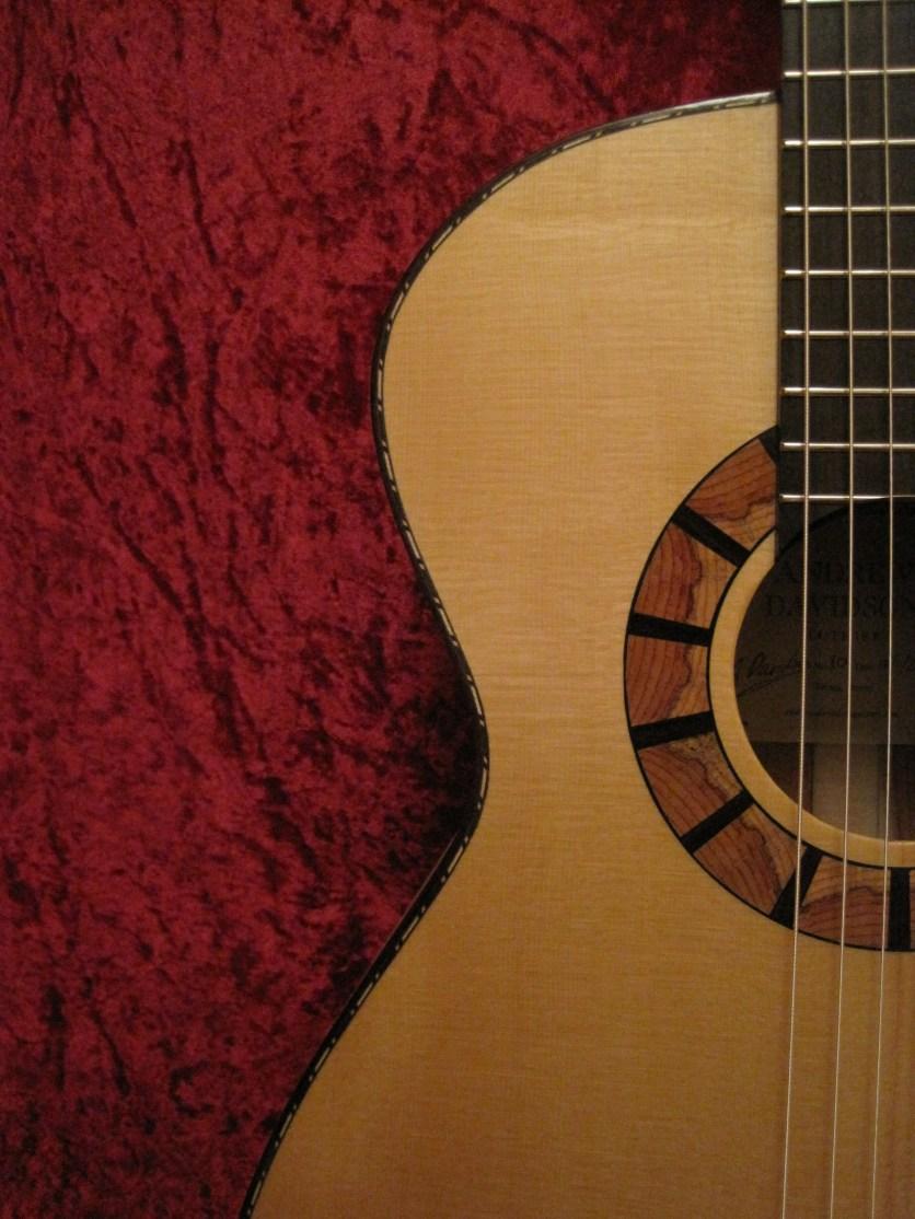 extra arty red velvet guitars 005