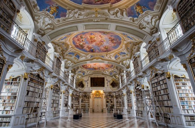 Austria_-_Admont_Abbey_Library_-_1185