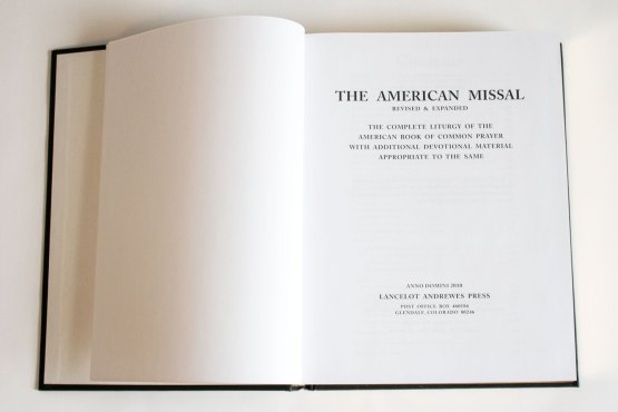American Missal Title Page
