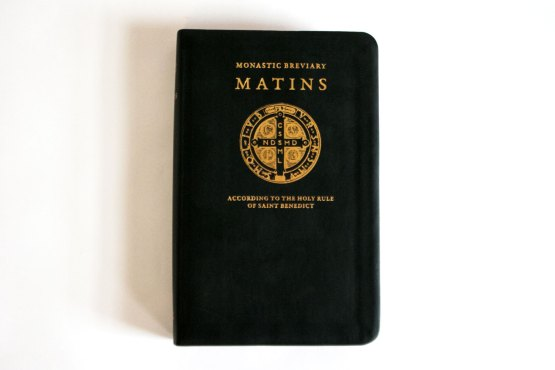 Monastic Breviary Matins Cover with Saint Benedict Seal