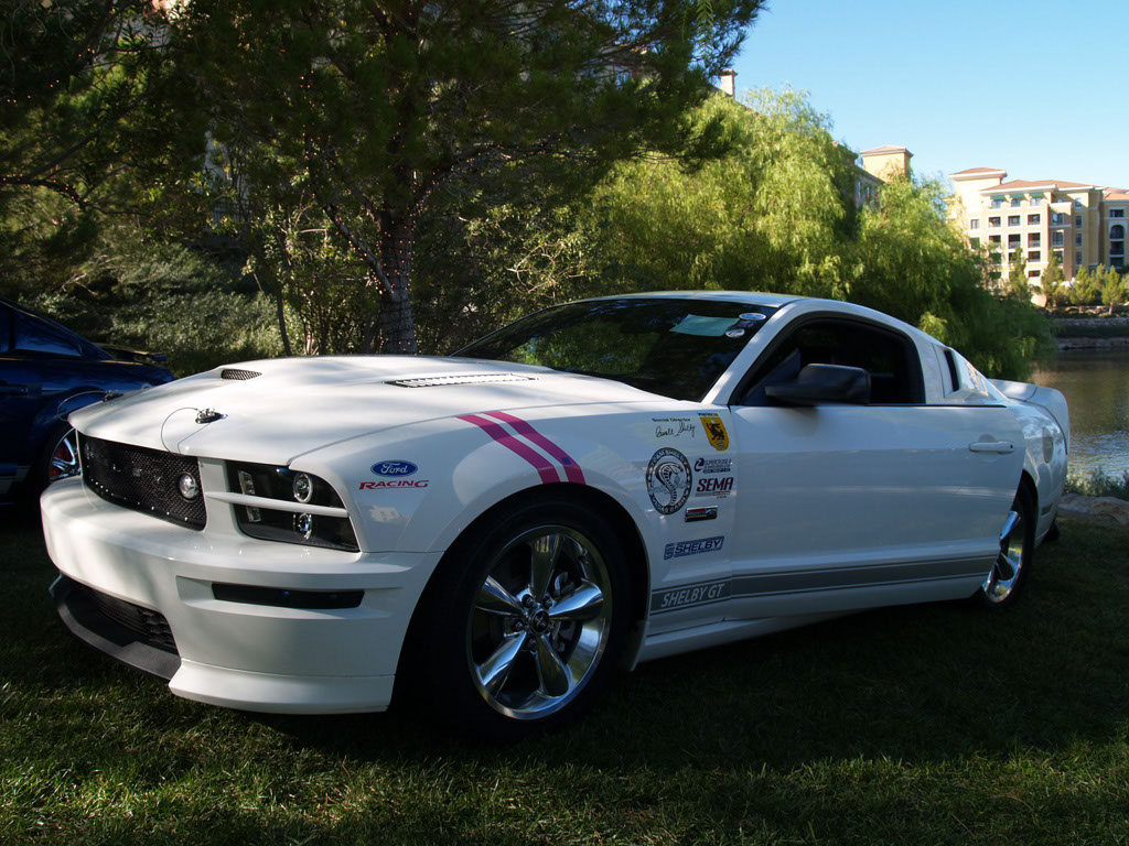 White Mustang at Lake Las Vegas Car Show 2011