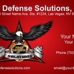 First Defense Solutions Business Card Design