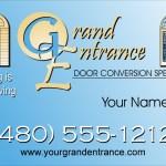 Grand Entrance Business Card Design