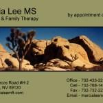 Marcia Lee Business Card Design