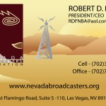 Nevada Broadcasters Assocation Business Card Design