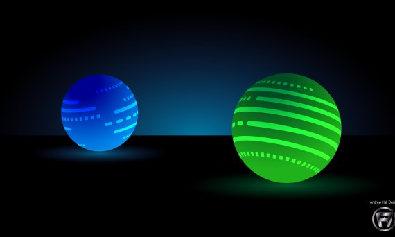 Stylized Glowing Vector Spheres