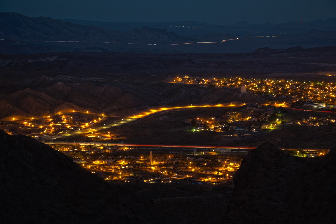 Night Photography, Cityscape of Boulder City