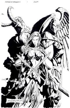 avengelyne armegeddon comic art