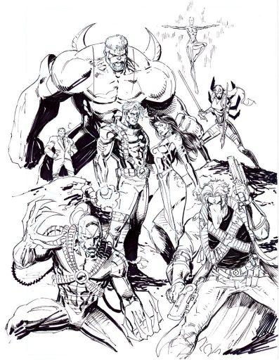 Eric Ninaltowski Comic Art - Wildcats