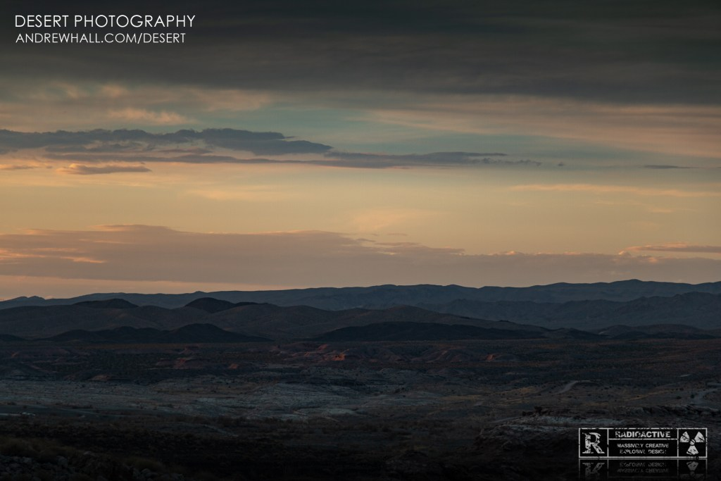 Desert Landscape at Sunset