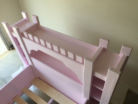 Castle Bed Painted 5 small