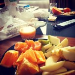 My post-cheese-binge breakfast