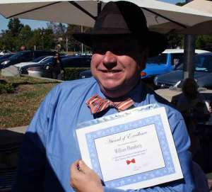 William with the official Bow Tie Certificate