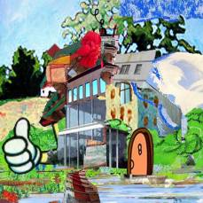 neighborhood #10, 2015Mixed Technique, Digital Collage