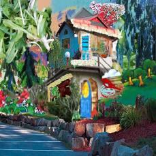 neighborhood #8, 2015Mixed Technique, Digital Collage