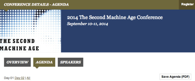 MIT Second Machine Age conference