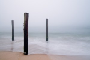 Three Beach Pilings