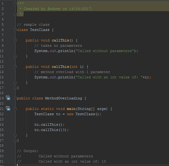 Overloading Operators In Java