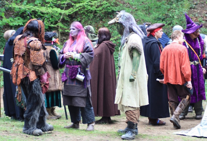 larping party turning into