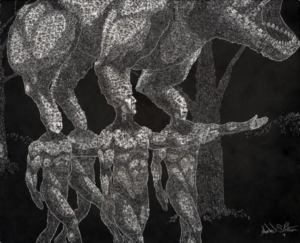 Emotional Dark Psychedelic Art