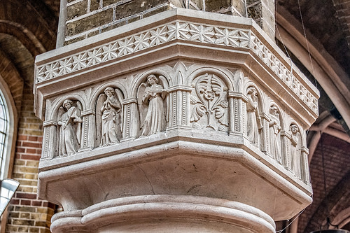 St Peter's church, Vauxhall, London; a nave capital