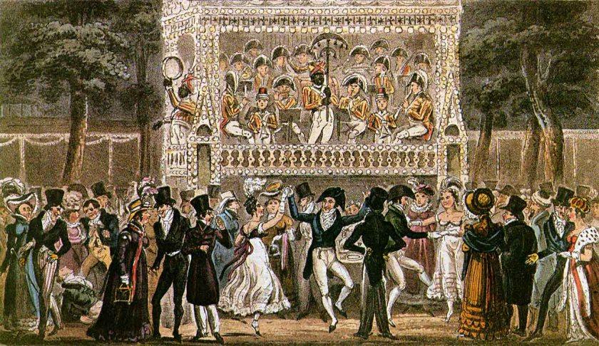 Vauxhall Pleasure Gardens, 1821