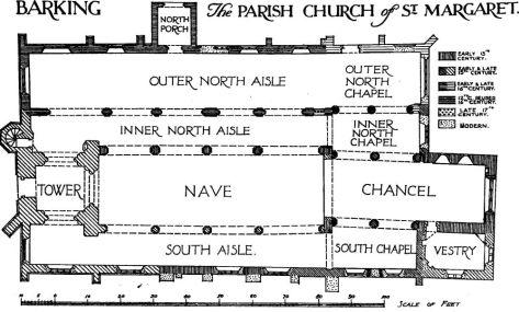 St Margaret's, Barking, floor plan