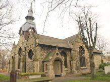 St Mathias, formerly the Poplar Chapel, built 1654; exterior c.2015.