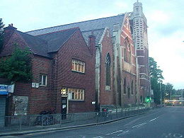 St Mary-of-Eton church (1890), London E9, from the south east c.2000