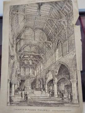 Design for St Andrew Earlsfiled, architect E. W. Mountford. 'Building News' 20 November 1891