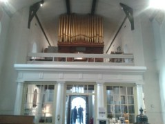 Old St Pancras Church, London Nw1. The west gallery and organ. Source: National Pipe Organ Register.