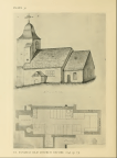 St Pancras Old Church, London NW1. The church depicted before 1848. Source: Survey of London.