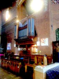The organ built by Walter J. Fisher, Oxford, 1904, for the church of St Barnabas, Walthamstow, London