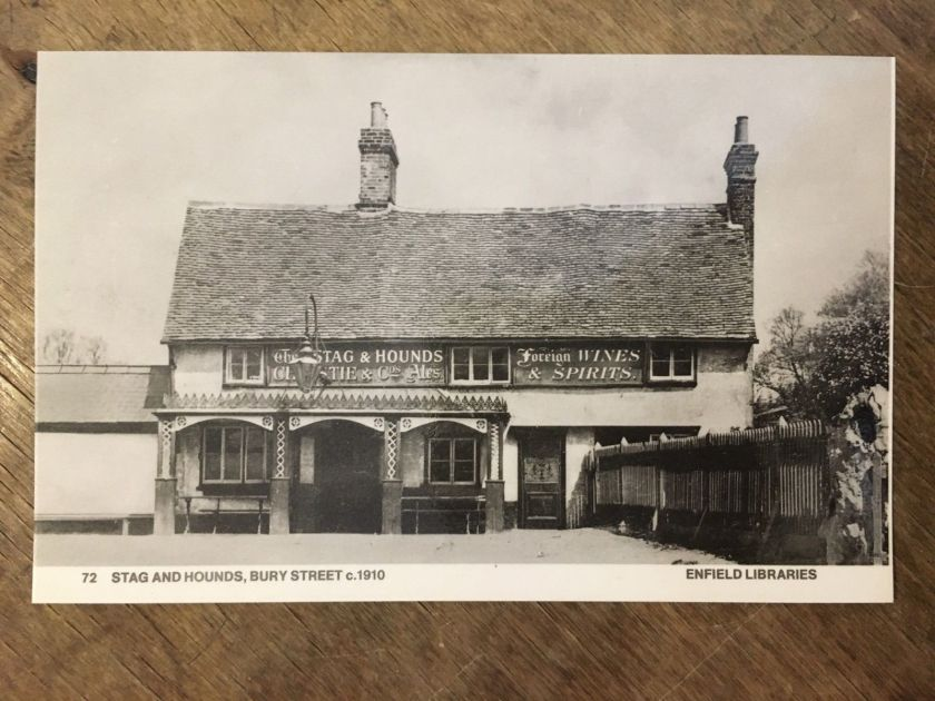 The Stag and Hounds public house, Bury Street, Edmonton, north London, c.1910. Anon. Source: Enfield Museums Service.