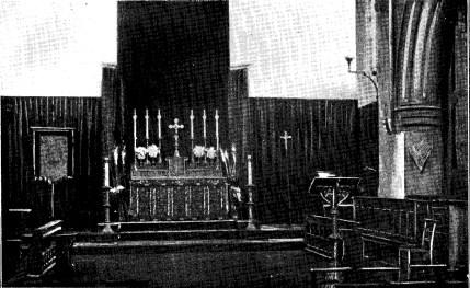 St Benet and All Saints, Kentish Town, London. high aktar, c.1900. [Source: 'In jubilaeo' (London: 1935)]