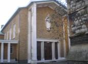 St Mary Newington, London. West front, c.2000. [Source: Exploring Southwark http://www.exploringsouthwark.co.uk/]