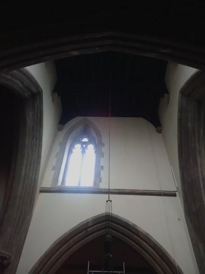 The tower-crossing at St Matthias Stoke Newington, London N16.