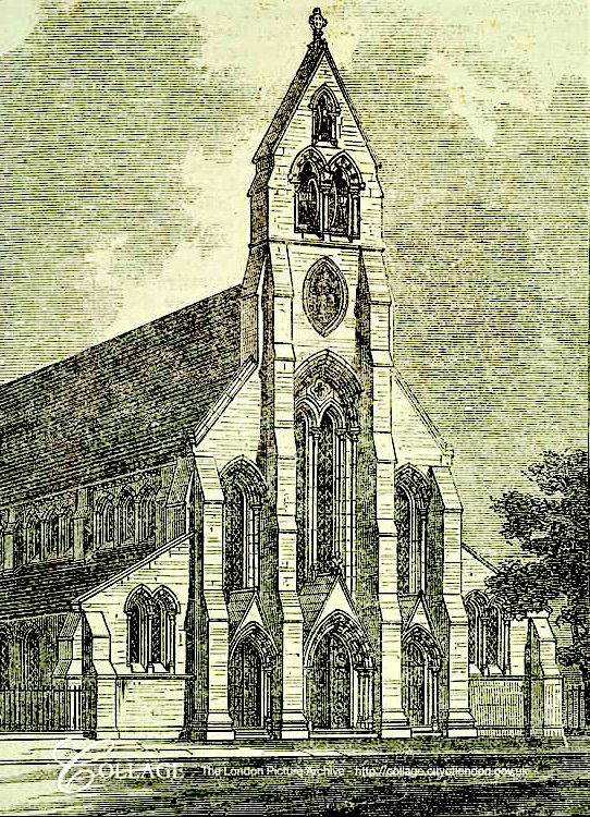 The former church of St Clement (1868), Lever Street, London EC1 (UK)