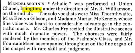 A concert at the Union Chapel, Islington, London (UK). [Source: The Musical Times, Vol. 28, No. 530 (Apr. 1, 1887)]