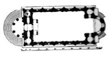 St Mary-le-Strand, ground plan