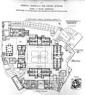 Plan of St Bartholomew's Hospital, Smithfield, 1893.