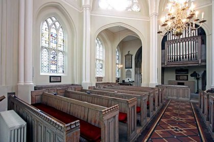 St Bartholomew the Less, Smithfield, looking south-west, c. 2015.