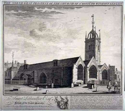 Church of St Botolph-without-Aldgate, London (pre-1741)